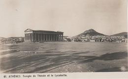AK Athenes Temple De Thésée Et Le Lycabette Athen Akropolis ? Pantheon ? Hellas Griechenland Greece Grece - Grecia