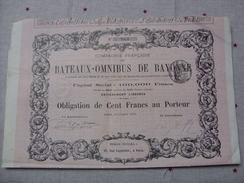BATEAUX OMNIBUS DE BAYONNE - Banque & Assurance