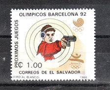 San Salvador  -  1988.  Tiro Con Pistola  E  Salto In Alto. Shooting Gun And High Jump. MNH - Tiro (armi)