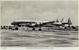 D2192mdt Transport Airlines Super Constellation Aircraft Postcard