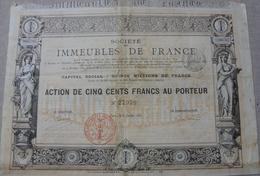 SOCIETE DES IMMEUBLES DE FRANCE 1887 Déco - Industrie