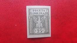 POLAND 1919 MNH NORTH POLAND ISSUE FISCHER 90A IMPERFORATED FENIGOW/MAREK DENOMINATION - 1919-1939 Republic