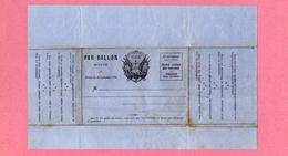 D-FR MONTGOLFIERE Envoi Par Ballon Monté Décret Du 26 Septembre 1870 Papier Bleu - Documents Historiques
