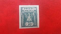 POLAND 1919 MNH NORTH POLAND ISSUE FISCHER 91A IMPERFORATED FENIGOW/MAREK DENOMINATION - 1919-1939 Republic