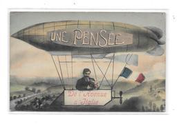 9761 - 75 - 13 Ième Arrondissement : Une Pensée De L'avenue D' Italie,  Ballon, Dirigeable, - Arrondissement: 13