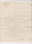 LETTRE COMMERCIALE (avec Enveloppe)  INDUSTRIEL A PRAT (ariege)    En 1935! - France