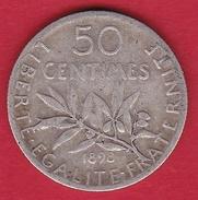 France 50 Centimes Semeuse 1898 - Frankreich