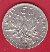 France 50 Centimes Semeuse 1898 - SUP - Frankreich