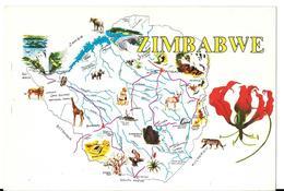 ZIMBABWE - Interest Map - Carte Géographique - Zimbabwe