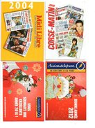 Calendrier De Poche Kleine  Kalender Journal Dagblad Presse Pers 4 Pcs Stuks - Calendriers