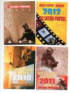 Calendrier De Poche Zak  Kalender Sapeurs Pompiers  France  Brandweer  4 Pcs Stuks Reclame Publiciteit Publicité - Calendriers