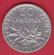 France 50 Centimes Semeuse 1899 - Frankreich