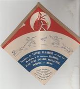 JOUET CARTON PUBLICITAIRE LEVURE ELGADINE FLAN CAKE SAVARIN PUDDING FEUILLETINE CREME - Autres