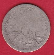 France 50 Centimes Semeuse 1900 - Frankreich