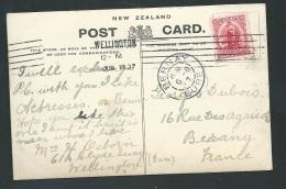 Nouvelle Zélande Yvert N° 94 Affranchissant Une Cap Pour La France Oblitéré Wellington En 1907  - Obf0710 - Briefe U. Dokumente