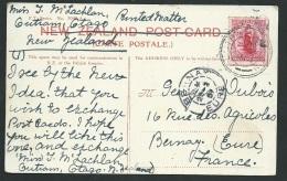 NLL Zélande  Cpa Afranchie  Pour La France Oblitéré  En 1907  - Obf0716 - Briefe U. Dokumente