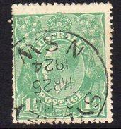Australia 1918-23 1½d Green GV Head, 2nd Wmk. 5, Used (SG61) - 1913-36 George V : Heads
