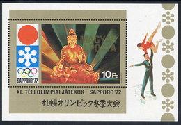 HUNGARY 1971 Winter Olympics, Sapporo Block MNH / **.  Michel Block 86 - Blocks & Sheetlets