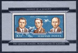HUNGARY 1971 Death Of Soviet Astronauts Block MNH / **.  Michel Block 84 - Blocks & Sheetlets