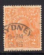 Australia 1918-23 2d Dull Orange GV Head, 2nd Wmk. 5, Used (SG62a) - 1913-36 George V: Heads