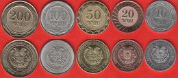 Armenia Set Of 5 Coins: 10 - 200 Dram 2003-2004 UNC - Armenië