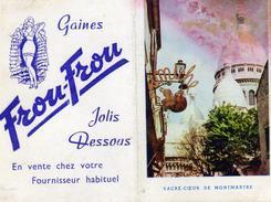 Calendrier Dépliant à 2 Volets - Frou-Frou  Jolis Dessous Soutien-gorge Gaine Ceinture - Mimiche Montmartre - 1958 - Calendriers