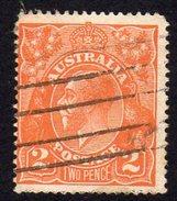 Australia 1918-23 2d Brown-orange GV Head, 2nd Wmk. 5, Used (SG62) - 1913-36 George V : Heads