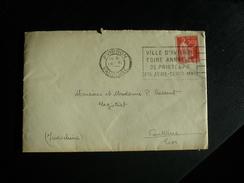 Enveloppe Affranchie Type Paix Pour Vientiane Laos OMEC Flier Avignon Foire Annuelle De Printemps 1933 - Maschinenstempel (Sonstige)