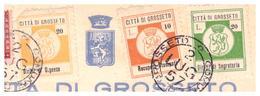 Grosseto. 1957. Marche Municipali Diritti Segreteria + Urgenza +  Stampati , Su Documento - Italie