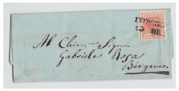 ITALIE--LOMBARDO-VENETIE -- DECEMBRE 1851 -- LETTRE DE INTROBIO POUR BERGAME -- - Lombardo-Vénétie