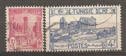 TUNISIE - Yv  N°  285,286   (o)  3f,4f    Cote  1 Euro  BE - Oblitérés