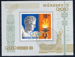HUNGARY 1969 Olympic Publicity Block Used.  Michel Block 69 - Blocs-feuillets