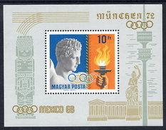 HUNGARY 1969 Olympic Publicity Block MNH / **.  Michel Block 69 - Blocks & Sheetlets