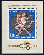 HUNGARY 1968 Olympic Games Block MNH / **.  Michel Block 65 - Blocks & Sheetlets