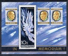 HUNGARY 1968 Death Of Astronauts Block MNH / **.  Michel Block 63 - Blocks & Sheetlets