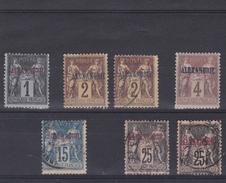 Alexandrie - Lot De 7 Timbres N°1*-N°2*/o-N°4*-N°9(o)-N°11(o) - Unused Stamps