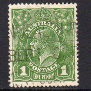 Australia 1924 1d Sage-green GV Head, Wmk. 5, Used (SG76) - Used Stamps