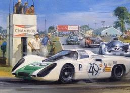 12 Hours Sebring 1968 -  Jo Siffert/Hans Herrmann (Porsche 907)   - Artist Michael Turner - Le Mans
