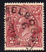 Australia 1924 2d Bright Red-brown GV Head, Wmk. 5, Used (SG78a) - Used Stamps