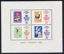 HUNGARY 1965 Stamp Day  Block MNH / **.  Michel Block 51 - Blocks & Sheetlets