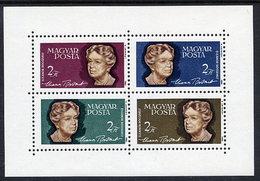 HUNGARY 1964 Eleanor Roosevelt  Block MNH / **.  Michel Block 41 - Blocks & Sheetlets