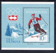 HUNGARY 1964 Winter Olympics  Block MNH / **.  Michel Block 40 - Blocks & Sheetlets