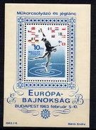 HUNGARY 1963 European Skating Championships  Block MNH / **.  Michel Block 37 - Blocks & Sheetlets