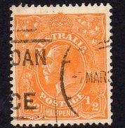 Australia 1926-30 ½d Orange GV Head, Wmk. 7, Perf. 13½x12½, Used (SG94) - 1913-36 George V : Têtes