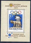 HUNGARY 1960 Olympic Games  Block MNH / **.  Michel Block 30 - Blocks & Sheetlets