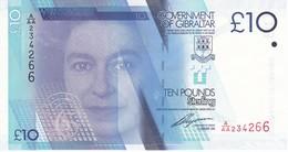 BILLETE DE GIBRALTAR DE 10 POUNDS DEL AÑO 2010  (BANKNOTE) SIN CIRCULAR-UNCIRCULATED - Gibraltar