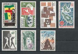 SÉNÉGAL Scott C114, 386, 410, 411, 404, 405, C138 Yvert PA120, 386, 412, 413, 405, 406, PA146 (7) * Cote 13,40$ 1972-75 - Sénégal (1960-...)