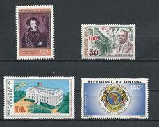 SÉNÉGAL Scott 373, 380, C119, C121 Yvert 376, 380, PA123, PA125 (4) ** Cote 8,25$ 1972-73 - Sénégal (1960-...)