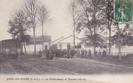 Carte 1910 JOUE LES TOURS / Les ETABLISSEMENTS DE TOURAINE (côté Est , Ligne De Chemin De Fer) - Other Municipalities
