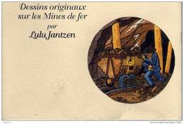 ALGRANGE - MINES DE FER - 16 CARICATURES De MINEURS - DESSINS (070) - Mijnen